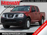 2016 Nissan Frontier SV Cayenne Red 4.0L V6 DOHCClean