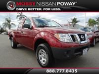 Frontier S I4, Nissan Certified, 5-Speed, and Cayenne