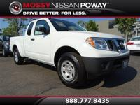 Frontier S, Nissan Certified, 5-Speed Automatic with