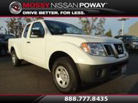 Frontier S I4, Nissan Certified, and Glacier White. Get