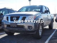 Clean CARFAX. Gray 2016 Nissan Frontier SV 4WD 5-Speed