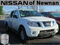 Frontier SV, Nissan Certified, 4D Crew Cab, and 4WD.