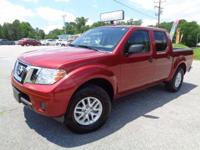 *One Owner*. Frontier SV, 4D Crew Cab, 4WD, Lava Red,