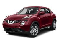 2016 Nissan Juke White Pearl  CARFAX One-Owner. 32/28
