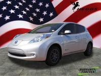 CARFAX One-Owner. Clean CARFAX. Silver 2016 Nissan Leaf