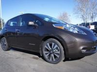 The Nissan LEAF is 100% electric. Its 30 kWh