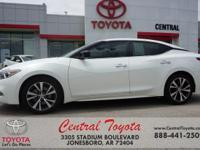 Clean CARFAX. White 2016 Nissan Maxima 3.5 S 4D Sedan