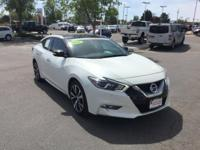 CARFAX One-Owner. Pearl White 2016 Nissan Maxima 3.5 SL