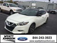 CARFAX One-Owner. Pearl White 2016 Nissan Maxima 3.5 SV