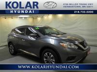 Murano SV and AWD. Low miles indicate the vehicle is