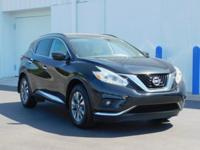 Clean CARFAX. This 2016 Nissan Murano SV in Black