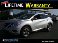 Options:  2016 Nissan Murano Sv|Silver|