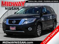 2016 Nissan Pathfinder SV Magnetic Black Metallic 3.5L