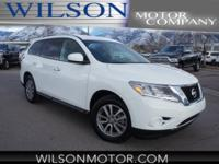 CARFAX One-Owner. White 2016 Nissan Pathfinder S 4WD