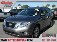 Options:  2016 Nissan Pathfinder S|Gray|Clean Carfax!!