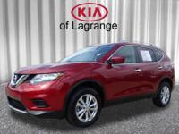 Red 2016 Nissan Rogue SV AWD CVT with Xtronic 2.5L I4