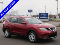 Clean CARFAX. 2016 Nissan Red FWD Rogue S CVT with