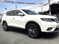 2016 Nissan Rogue SL White AWD, ABS brakes, Electronic