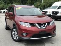 2016 Nissan Rogue Red 32/25 Highway/City MPG CARFAX