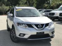 2016 Nissan Rogue Silver 32/25 Highway/City MPG Clean