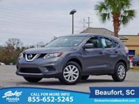CARFAX One-Owner. Gray 2016 Nissan Rogue S FWD CVT with