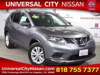 Clean CARFAX. Certified. Gray 2016 Nissan Rogue SV 4D