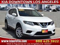 White 2016 Nissan Rogue S 4D Sport Utility FWD CVT with