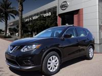 This 2016 Nissan Rogue S features a power outlet, a