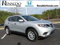 2016 Nissan Rogue S Silver   CARFAX One-Owner. 32/26