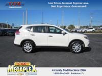 This 2016 Nissan Rogue S in White is well equipped
