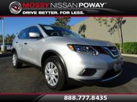 Rogue S, Nissan Certified, and Silver. Get ready to