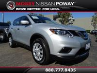 Carfax 1-Owner!. Rogue S, Nissan Certified, and Silver.