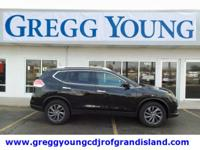 Magnetic Black 2016 Nissan Rogue SL AWD CVT with