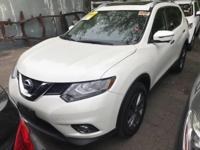 Certified. White 2016 Nissan Rogue SL AWD Automatic