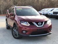 2016 Nissan Rogue SL Red 25/32 City/Highway MPG CARFAX