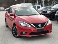 2016 Nissan Sentra Red  Clean CARFAX. FOR MORE