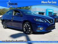 Recent Arrival! This 2016 Nissan Sentra SR in Blue