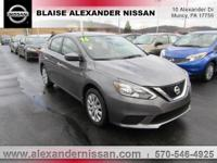 2016 Nissan Sentra FE+ S Williamsport area. CVT with