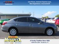 This 2016 Nissan Sentra S in Gun Metallic is well