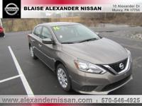 2016 Nissan Sentra SV Williamsport area. CVT with