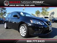 Sentra SV, Nissan Certified, Super Black, and Charcoal.