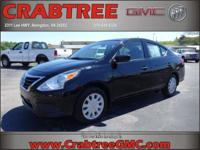 Options:  2016 Nissan Versa 1.6 S|1.6 S 4Dr Sedan