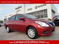 CARFAX One-Owner. Clean CARFAX. Red 2016 Nissan Versa
