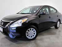 Clean CARFAX. Certified. Super Black 2016 Nissan Versa