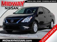 New Price!2016 Nissan Versa 1.6 S Plus Super Black 1.6L