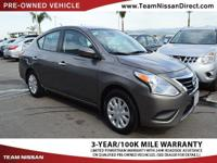 Options:  2016 Nissan Versa Sv|Gray/|V4 1.6 L