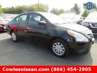 Versa 1.6 SV, Nissan Certified, 4D Sedan, and Super