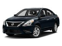 Versa 1.6 S, 4D Sedan, 1.6L I4 DOHC 16V, and 5-Speed