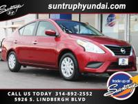 Recent Arrival! Clean CARFAX. Red 2016 Nissan Versa FWD