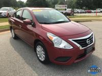 CARFAX One-Owner. Cayenne Red 2016 Nissan Versa 1.6 S